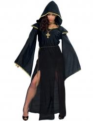 Déguisement prêtresse lugubre noire femme Halloween