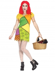 Déguisement poupée de chiffon colorée femme