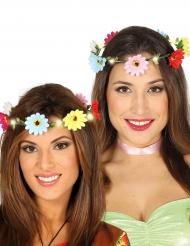 Couronne de fleurs colorées lumineuses adulte