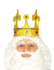 Couronne roi pailleté avec faux joyaux adulte