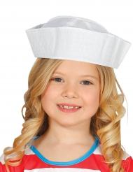Chapeau marin blanc enfant