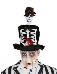 Chapeau haut de forme marié squelette adulte Halloween