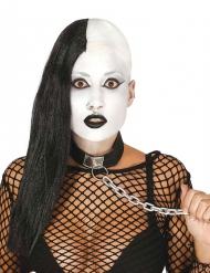 Perruque punk rasée noire adulte