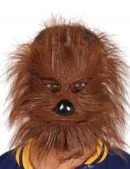 Masque avec poils loup garou adulte Halloween
