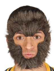 Poils pour visage loup-garou adulte