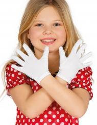 Gants courts blancs enfant