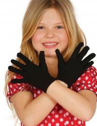 Gants courts noirs enfant