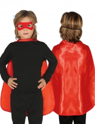 Cape super héros rouge 55 cm enfant