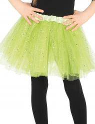 Tutu vert à paillettes fille