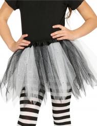 Tutu bicolore noir et blanc à paillettes fille