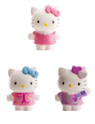 3 Figurines Hello Kitty™ 7 cm