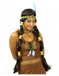 Perruque longue indienne squaw femme