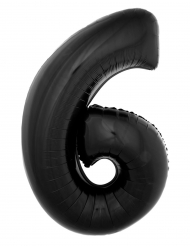 Ballon aluminium chiffre 6 noir 40 cm