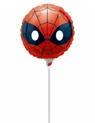 Ballon aluminium gonflé Spiderman ™ Emoji ™ 23 cm