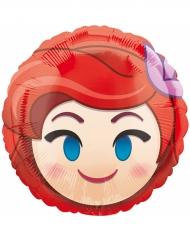 Ballon aluminium rond Ariel ™ Emoji ™ 43 cm