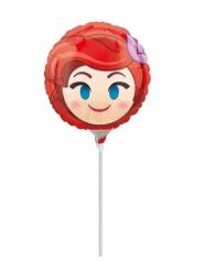 Ballon aluminium sur tige rond Ariel ™ Emoji ™ gonflé 23 cm