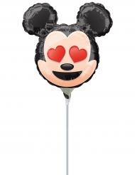 Petit ballon aluminium Mickey Mouse ™ Emoji ™ gonflé 22 cm