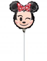 Petit ballon aluminium Minnie Mouse ™ Emoji ™ gonflé 22 cm