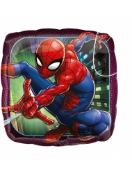 Ballon aluminium carré Spiderman ™ 43 cm