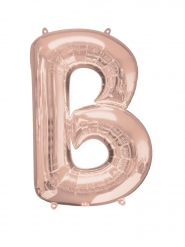 Ballon aluminium Lettre B rose gold 58 x 86 cm