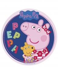 Disque en sucre Peppa Pig™ 20 cm aléatoire