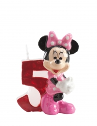 Bougie chiffre 5 Minnie™ 6.5 cm