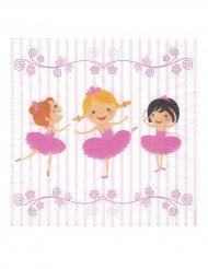 20 Serviettes en papier ballerines 33 x 33 cm