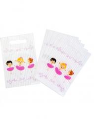 6 Sacs cadeaux en plastique ballerines 15 x 22.5 cm