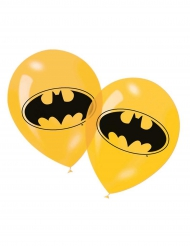 6 Ballons en latex jaune Batman™