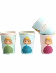 6 Gobelets en carton Princesse 25 cl