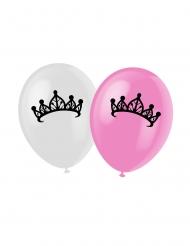 6 Ballons en latex princesse roses 30 cm