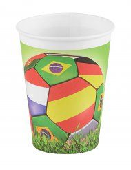 6 Gobelets en carton football 25 cl