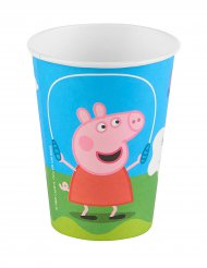 6 Gobelets en carton Peppa Pig™ 25 cl 9.5 x 7.5 cm