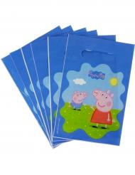 6 Sacs cadeaux Peppa Pig™ 22.5 x 15 cm