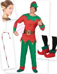 Pack déguisement elfe homme avec sur-chaussures, oreilles et canne