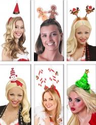 Pack serre-têtes personnages de Noël