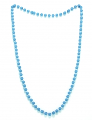 Collier perles bleues adulte