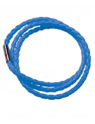 Bracelet tressé bleu fluo adulte