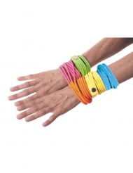 Bracelet fashion bleu fluo adulte