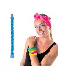 Bracelet zip bleu adulte