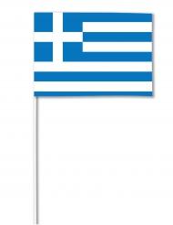 Drapeau papier Grèce 14 x 21 cm