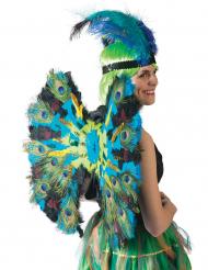 Ailes plumes de paon luxe 60 cm