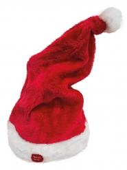Bonnet rouge musciale et animé Noël