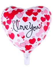 Ballon aluminium coeur I love you 52 x 46 cm