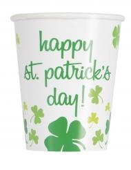 8 Gobelets Happy St Patrick