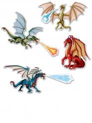 7 Affiches dragons en carton