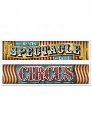 Lot de 2 banderoles Cirque Vintage 1,5 m