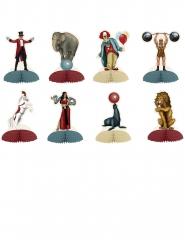 8 Minis centres de table thème Cirque Vintage 12,7 cm