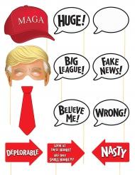 Accessoires pour Photobooth thème Président américain