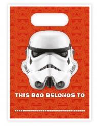 8 Sacs cadeaux Stormtrooper™ 16,5 x 23 cm